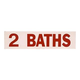 1980s 2 Baths Sign For Sale