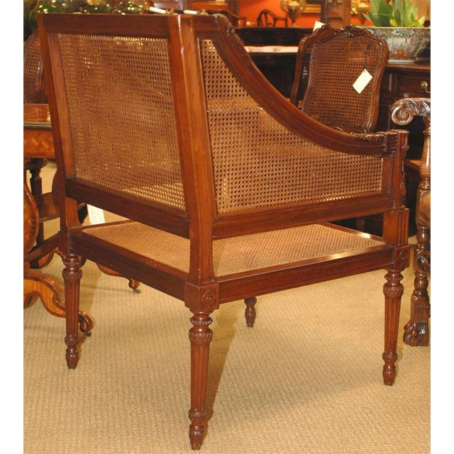 Mid 19th Century Large Caned Bergere Chair For Sale - Image 5 of 8