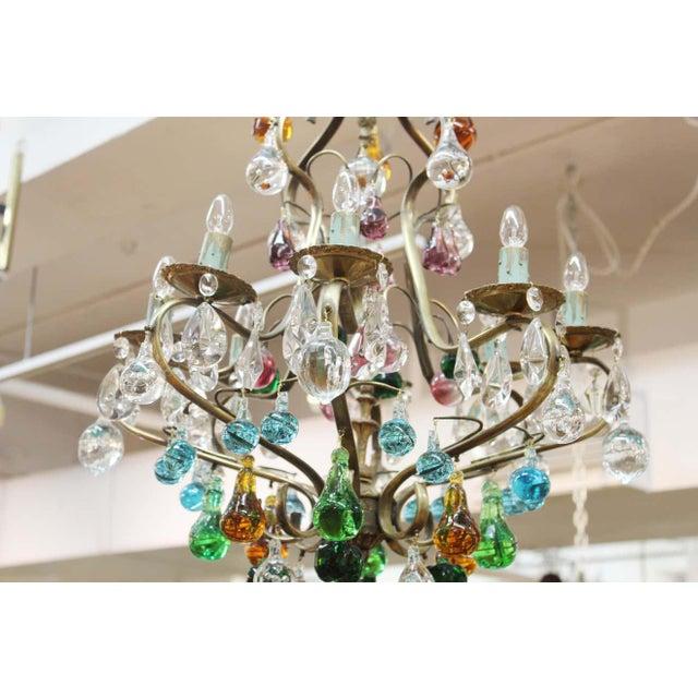 1950s Italian Mid Century Modern Murano Glass Fruit Chandelier For Sale - Image 4 of 13