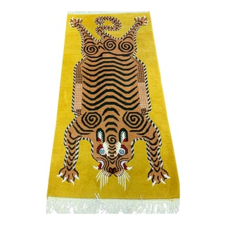 Hand Knotted Tibetan Tiger Rug For Sale