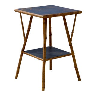 Bamboo Side Table in the British Colonial Taste For Sale