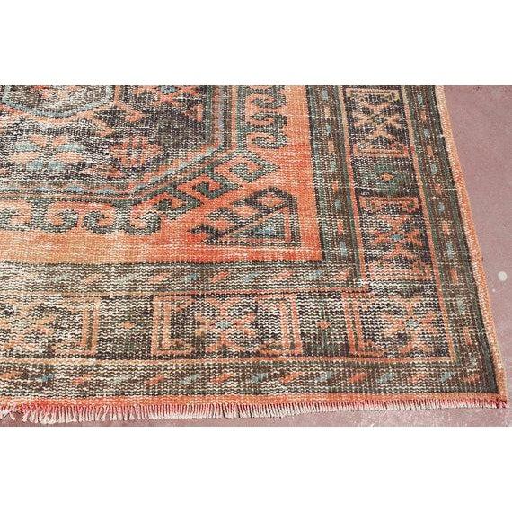 "Turkish Tribal Bohemian Runner Rug - 4'8"" x 11'1"" For Sale - Image 5 of 7"