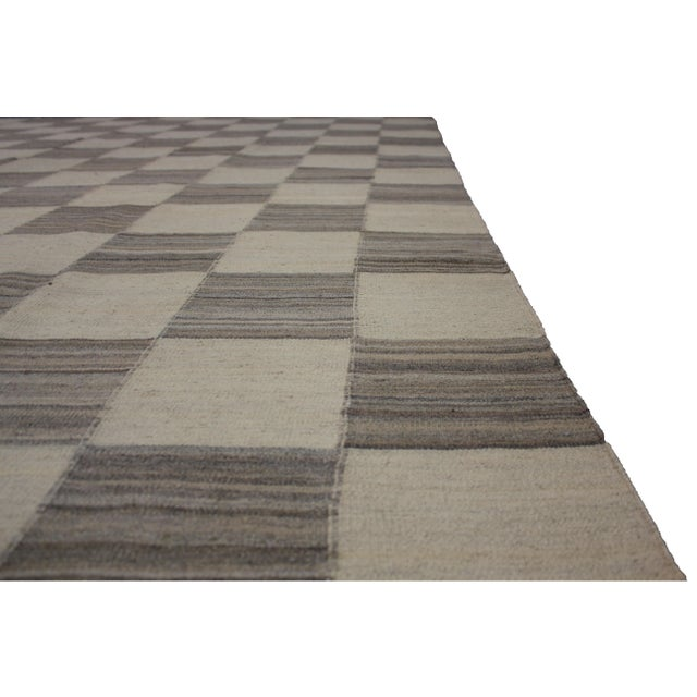 "Aara Rugs Inc. Hand Knotted Modern Kilim - 12'9"" X 9'11"" For Sale - Image 5 of 5"
