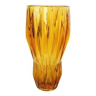 1960s Mid Century Modern Rudolf Jurnikl for Sklo Union Amber Glass Vase