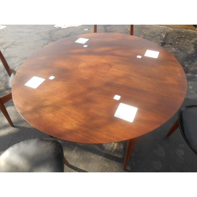 Hans Wegner Dining Set / Game Table For Sale - Image 5 of 10