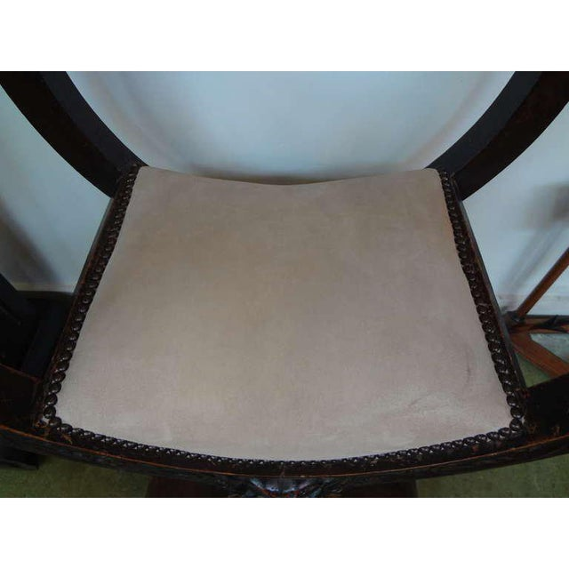 Wood 19th Century Continental Renaissance Style Carved Chair For Sale - Image 7 of 9