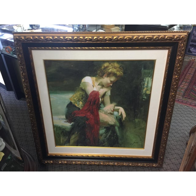 Paper Pino Daeni Lithograph Contemplation Signed Limeted Edition For Sale - Image 7 of 7