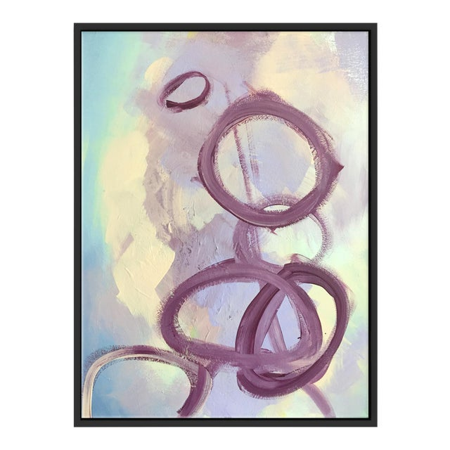 """""""Abstract Purple Rings"""" Framed Fine Art Giclée - Image 1 of 3"""
