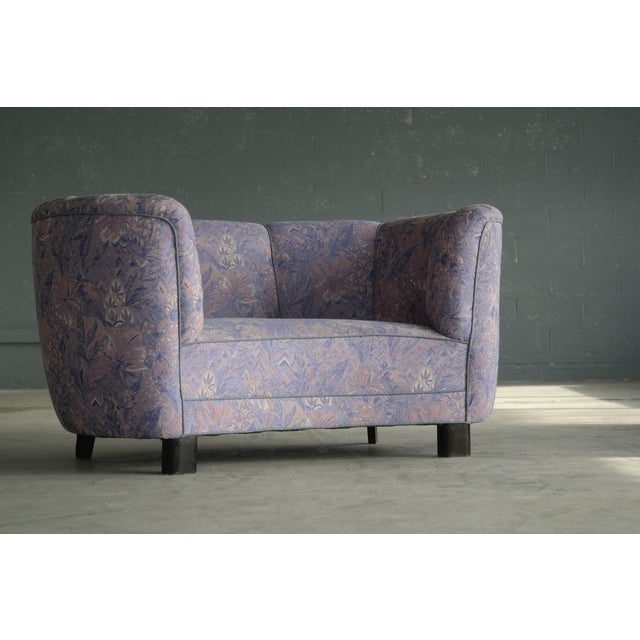 1940s Curved Bananna Small Loveseat