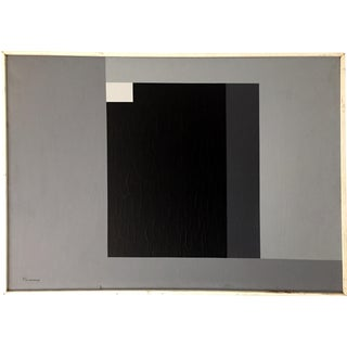 Black, Gray, & White Acrylic Composition For Sale