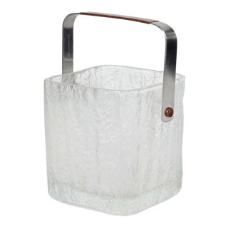Vintage Ice Bucket with Textured Ice Cube Design
