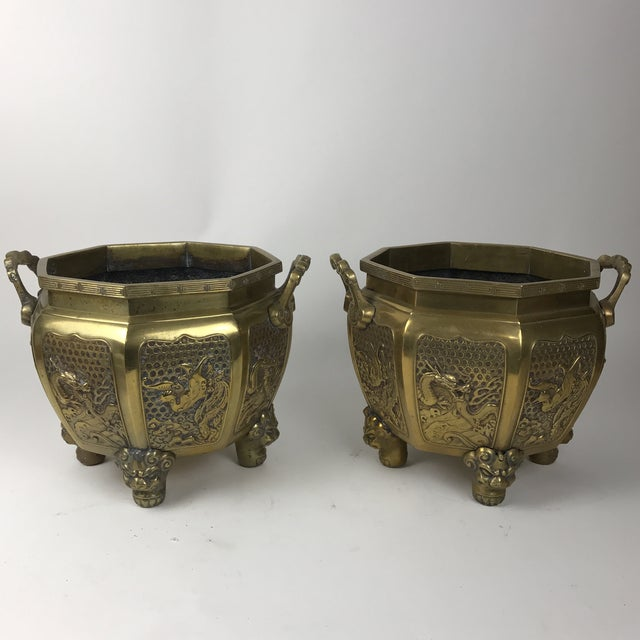1960s Japanese Brass Planter For Sale - Image 5 of 10