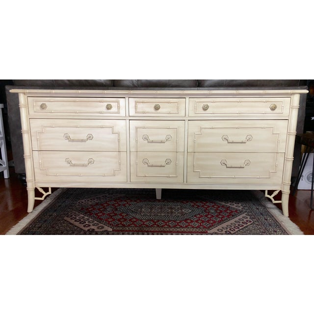 1970s Thomasville Allegro Faux Bamboo Dresser For Sale - Image 5 of 5