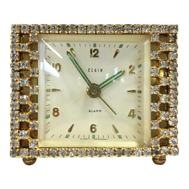 Elgin West Germany Rhinestone Alarm Clock - Image 1 of 7