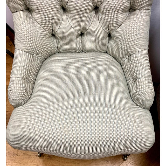 2000 - 2009 Ralph Lauren Tufted Upholstered Chairs, a Pair For Sale - Image 5 of 13