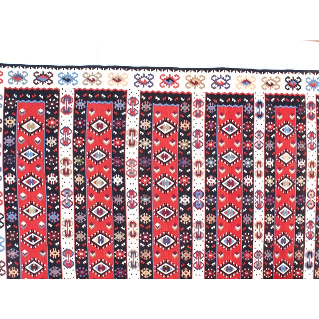 "Pasargad NY Antique Persian Shiraz Kilim Rug - 4'7"" x 7'4"" For Sale - Image 4 of 5"