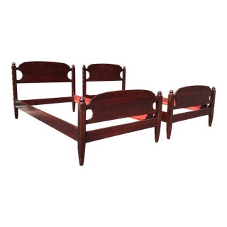 French & Heald Solid Twin Beds- a Pair For Sale