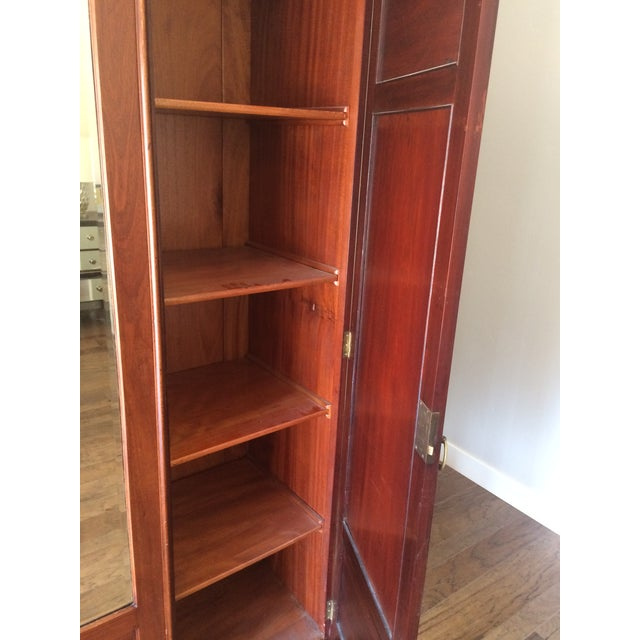 Antique Wooden Mirrored Armoire - Image 5 of 6