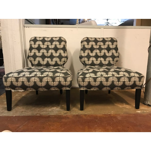 Vintage Mid-Century Slipper Chairs - A Pair - Image 2 of 9
