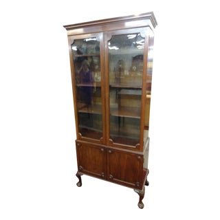 20th Century Traditional Mahogany Bookcase For Sale