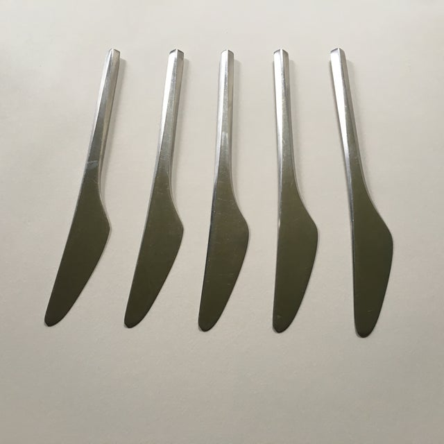 Danish Modern George Jensen Prism Stainless Knives - Set of 5 For Sale - Image 3 of 5