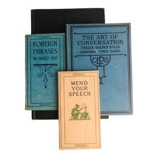 Vintage Etiquette and Conversation Self Help Book & Manuals - Set of 4 For Sale