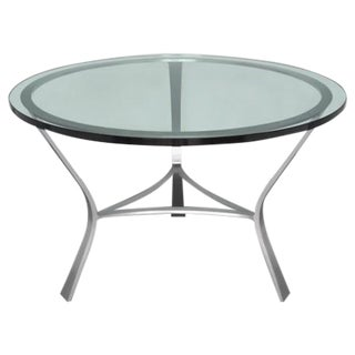 Glass Top Table by John Vesey For Sale