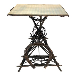 Antique American Adirondack Twig Table For Sale