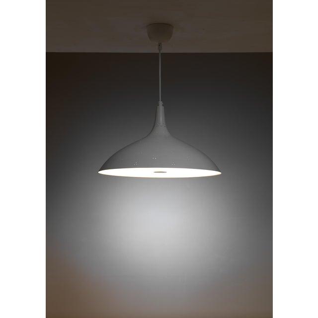 Idman Paavo Tynell White Model 1965 Pendant Lamp, Idman, Finland For Sale - Image 4 of 4