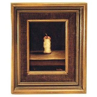 Apple Core Painting on Velvet
