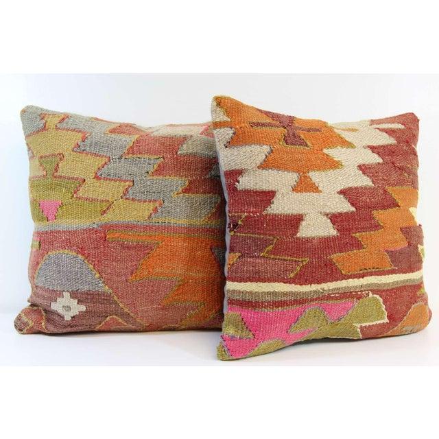 Turkish Kilim Pillow - A Pair - Image 3 of 7