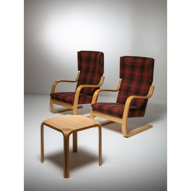 """1970s Rare Set of """"401"""" Lounge Chairs by Alvar Aalto for Artek For Sale - Image 5 of 6"""