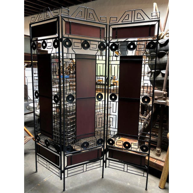 1980s Vintage Asian-Inspired Decorative Room Divider For Sale In Sacramento - Image 6 of 11