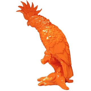 Orange Cockatiel Sculpture