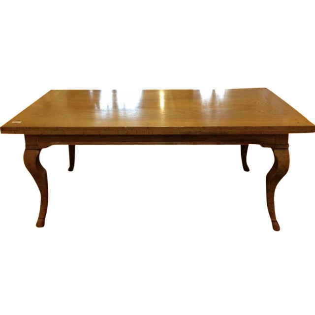 Modern Cabriole Leg Dining Table - Image 1 of 4