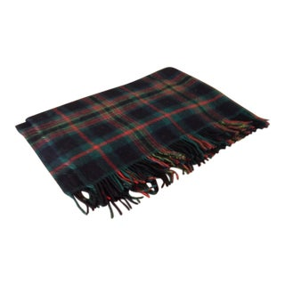 Vintage Plaid Wool Connemara Blanket/Throw For Sale
