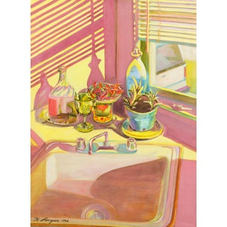 'Kitchen Still Life' by Keith Longcor, 1996; Large California Pop Art Oil, Style of Wayne Thiebaud