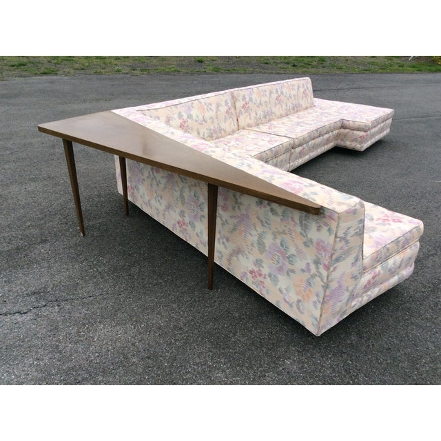 Pink Harvey Probber Vintage Sectional Sofa with Table For Sale - Image 8 of 11