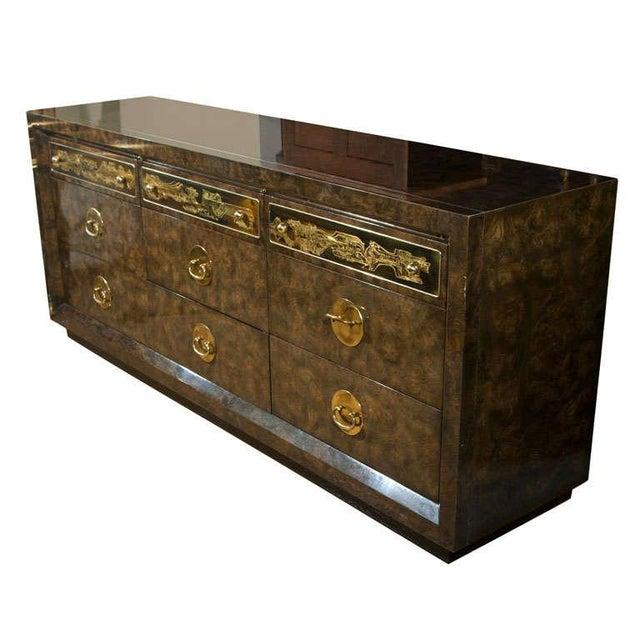 Mid-Century Nine Drawer Dresser by Mastercraft For Sale - Image 11 of 11