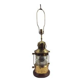 Vintage Brass Ships Lantern Lamp For Sale
