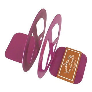 Jonathan Adler Pink Peace Sign Bookends - Set of 2 For Sale