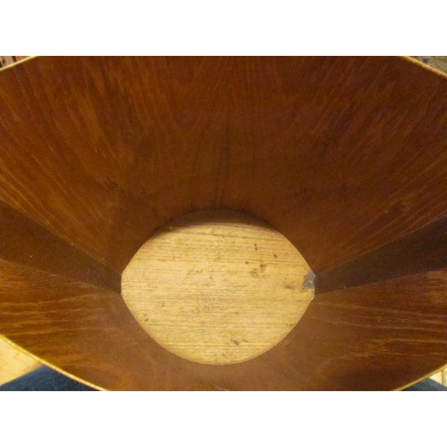 Mid 20th Century Vintage P. S. Heggen Teak Waste Basket Designed by Einer Barnes For Sale - Image 5 of 9