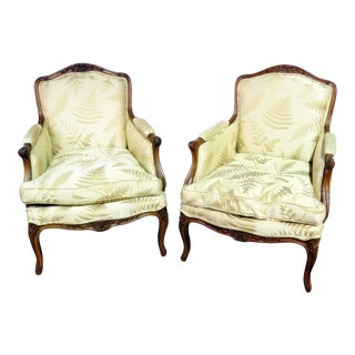 French Regency Style Bergere Chairs - a Pair For Sale