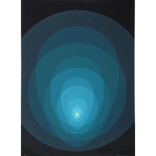 Clarence Holbrook Carter, Blue Mandala Silkscreen For Sale