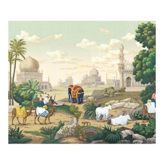 "Jaipur Full Wallpaper Mural - 15 Panels - 540"" W X 120"" H For Sale"