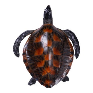 Life-Like Resin Turtle Sculpture For Sale