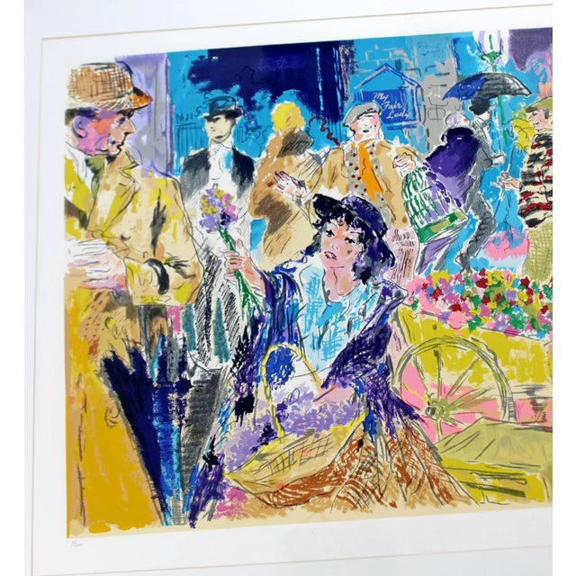 Mid-Century Modern Leroy Neiman Litho Signed Numbered 1/300 My Fair Lady Framed For Sale In Detroit - Image 6 of 11