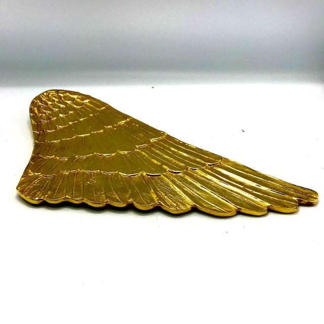 Gilded Metal Gold Wing Serving Platter - Image 5 of 7
