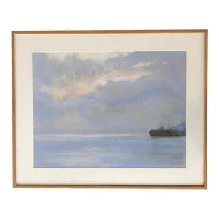 Vintage Painting Lush Seascape