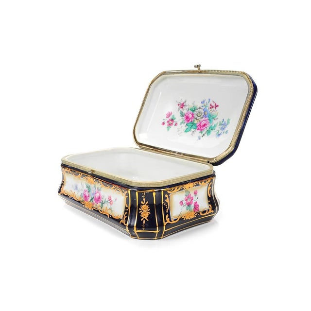 German Painted Porcelain Jewelry Box - Image 3 of 10